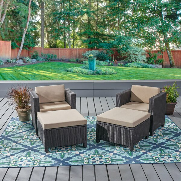Hartwick Patio Chair with Cushion by Gracie Oaks