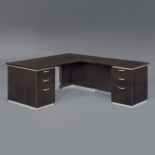 Pimlico Right L-Shape Executive Desk by Flexsteel Contract
