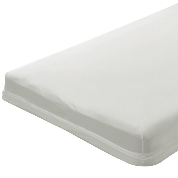 1 Zippered Natural Cotton Crib Mattress Cover by Bargoose Home Textiles