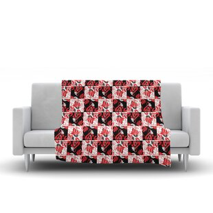 Compare Maria Bazarova Texture Flowers Abstract Fleece Blanket By East Urban Home