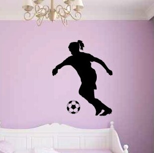 Airdrie Girl Soccer Player and Ball Wall Decal by Zoomie Kids