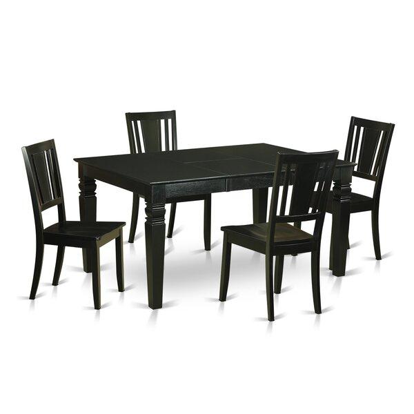 Design Weston 5 Piece Dining Set By Wooden Importers Wonderful