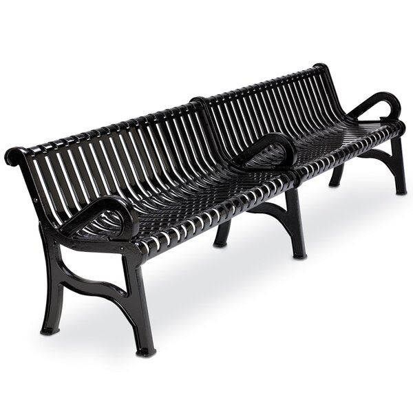 Rendezvous Steel Park Bench by Anova