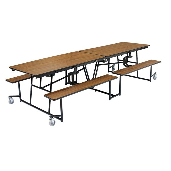144 x 54.75 Rectangular Cafeteria Table by National Public Seating
