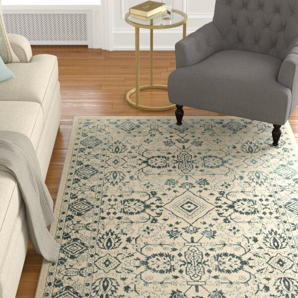 Ravenwood Green/Beige Area Rug by Alcott Hill
