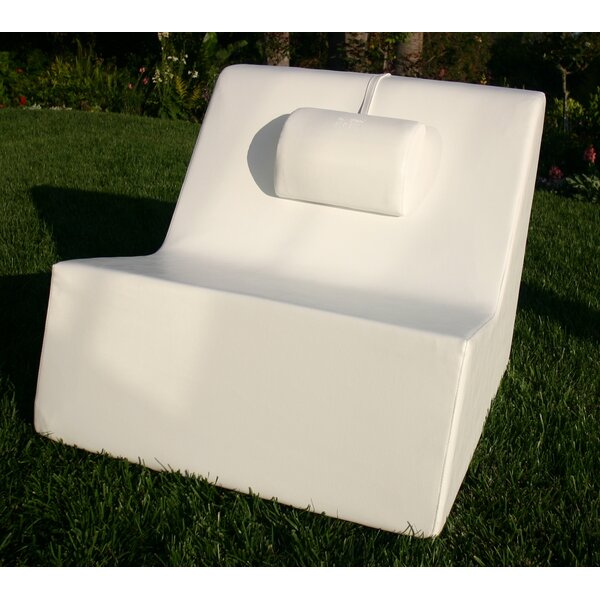 Check Patio Chair with Cushions by La-Fete