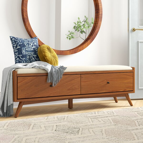 Parocela Upholstered Drawer Storage Bench By Foundstone