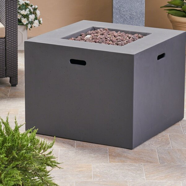 Caelan Outdoor Concrete Propane Gas Fire Pit by Latitude Run