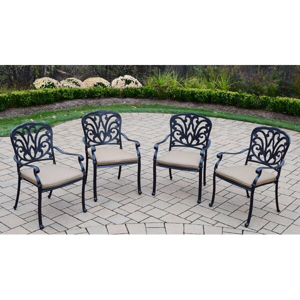 Bosch Stacking Patio Dining Chair with Cushion (Set of 4) by Darby Home Co