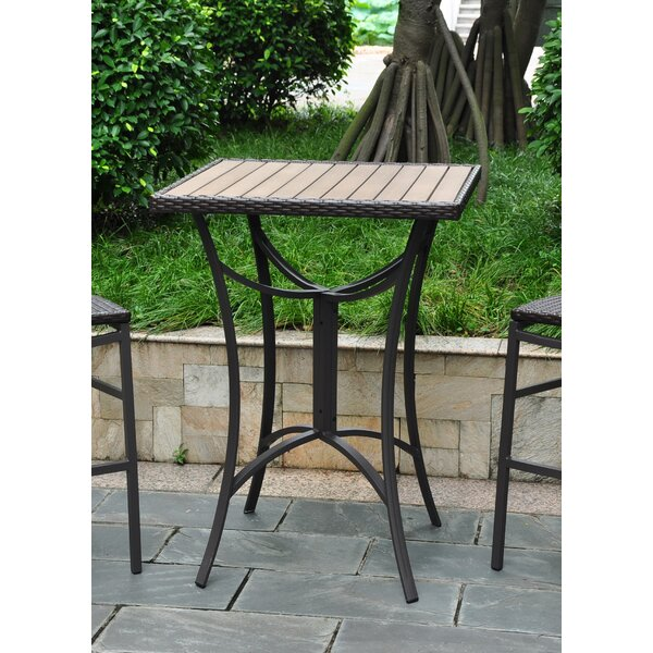 Katzer Wicker Resin/Aluminum Patio Table by Brayden Studio