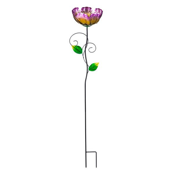 Poppy on Stake Decorative Bird Feeder by Evergreen Flag & Garden