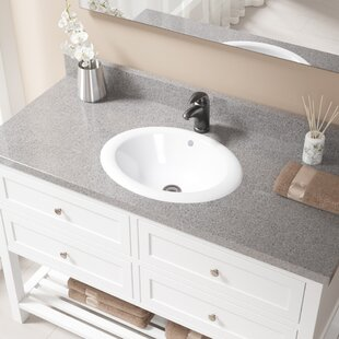Compare & Buy Vitreous China Oval Drop-In Bathroom Sink with Overflow with Drain Assembly ByMR Direct
