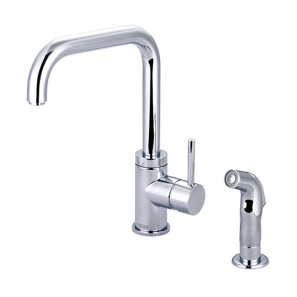 Motegi Single Handle Kitchen Faucet with Side Spray by Pioneer
