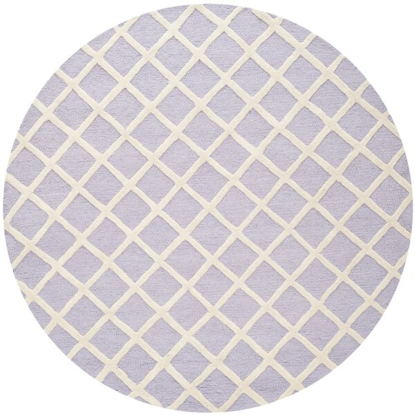 Martins Hand-Tufted Wool Lavender/Ivory Area Rug by Wrought Studio