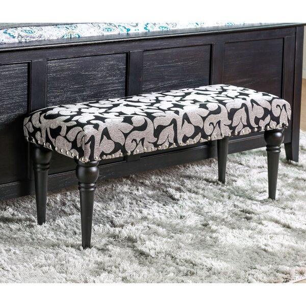 Amos Upholstered Bench by Alcott Hill