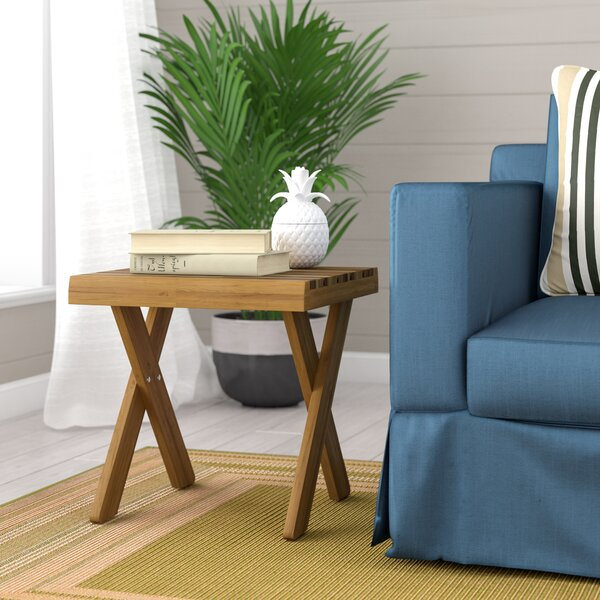 Indoor Farmhouse Acacia Wood End Table by Bay Isle Home