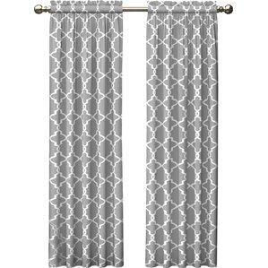 kaiser geometric semisheer rod pocket curtain panels set of 2
