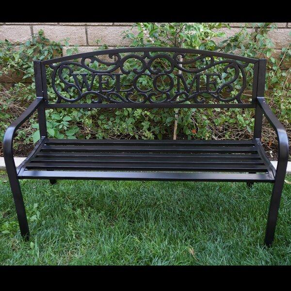 Blossoming Iron Garden Bench by Belleze