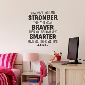 Whimsical Stronger Braver Smarter Wall Quotes™ Decal