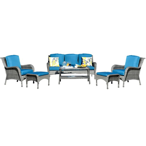 Cassville 6 Piece Sofa Seating Group With Cushions By Highland Dunes