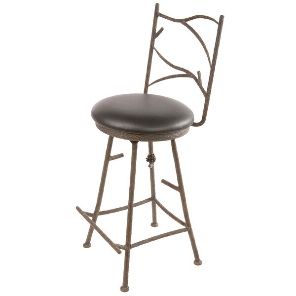 Trawick Swivel Bar & Counter Stool by Millwood Pines Millwood Pines
