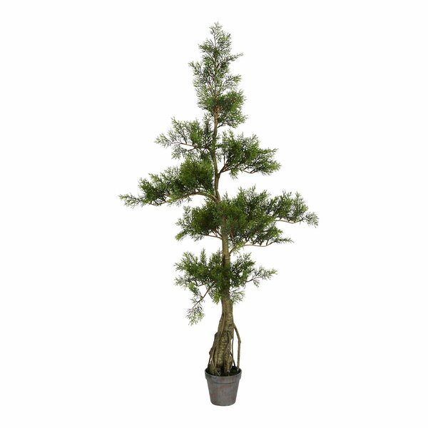Artificial Potted Floor Cedar Tree in Pot by Bay Isle Home