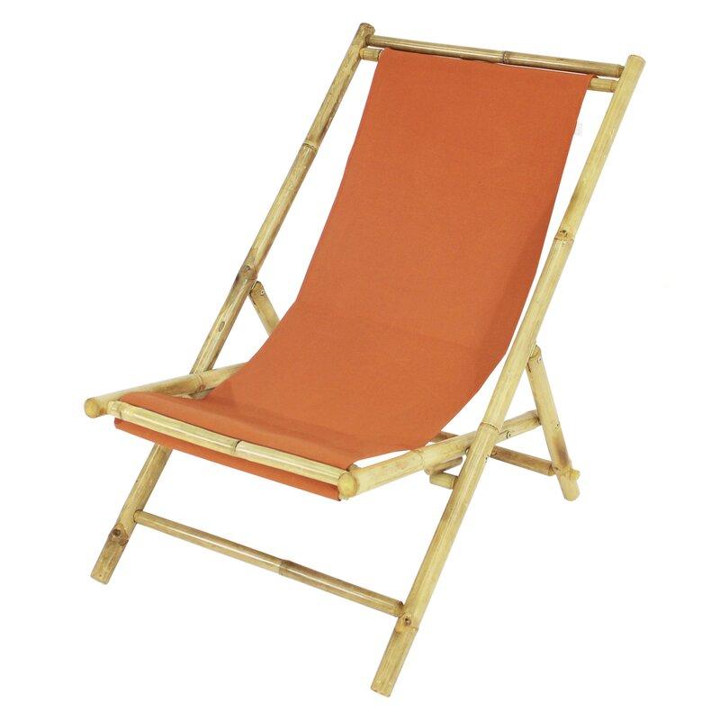 Bayou Breeze Atalya Reclining Folding Bamboo Relax Sling Beach Chair Reviews Wayfair