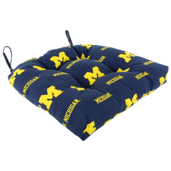 NCAA Michigan Indoor/Outdoor Dining Chair Cushion by College Covers