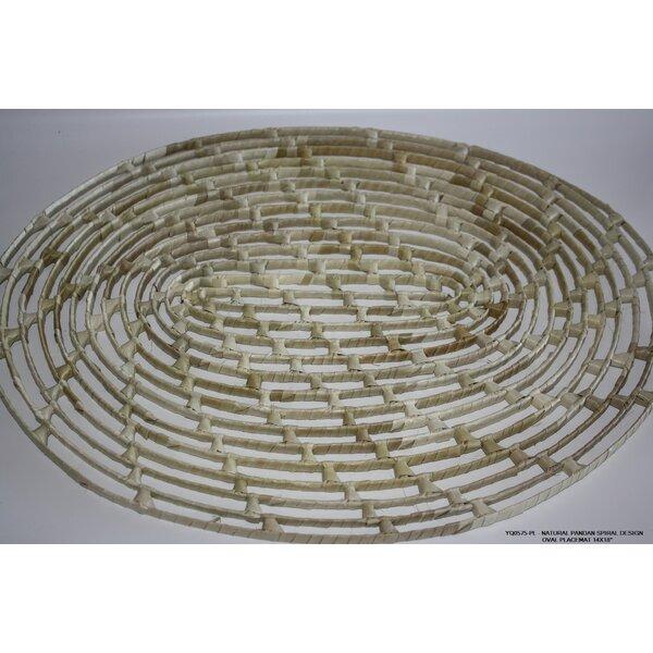 Natural Pandan Spiral Design Placemat (Set of 4) by Desti Design