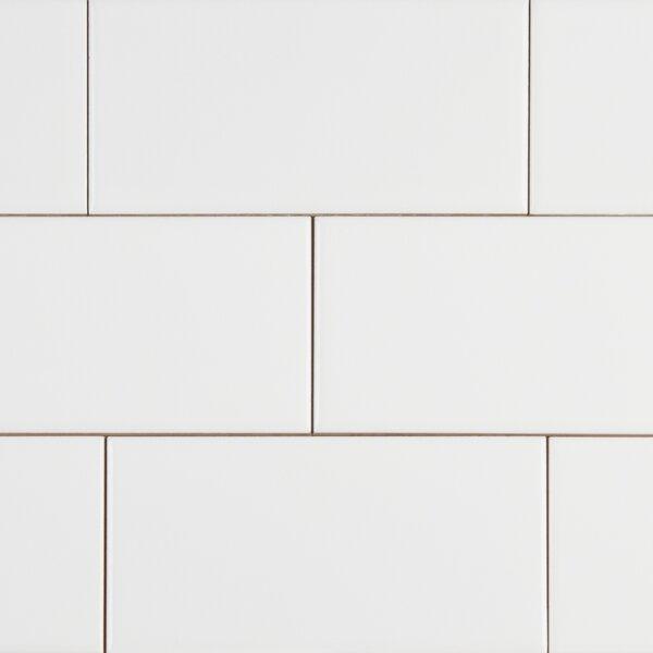 Random Sized 3 x 6 Ceramic Subway Tile in White by MSI