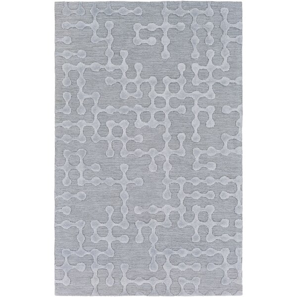 Serpentis Hand Woven Dark Purple/Taupe Area Rug by Wrought Studio