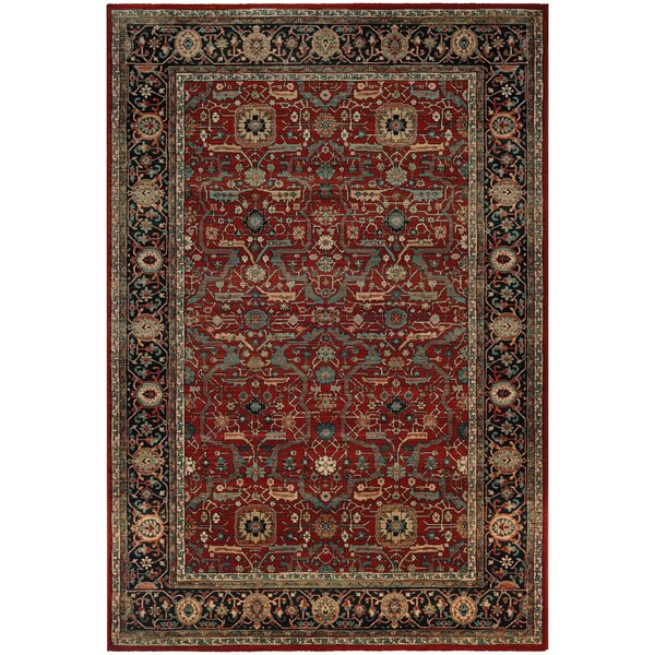 Cloverfield Rust/Navy Area Rug by Darby Home Co
