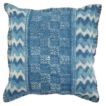 Bungalow Rose Warthen Cotton Feather Geometric Throw Pillow Wayfair