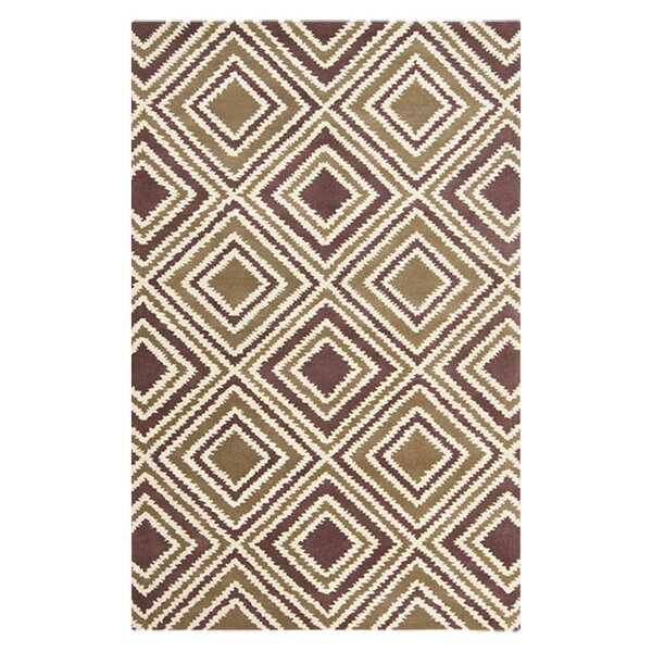 Benge Mulled Wine Beige/Navy Area Rug by Loon Peak