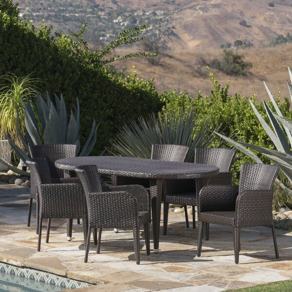 Molter Outdoor 7 Piece Dining Set by Latitude Run