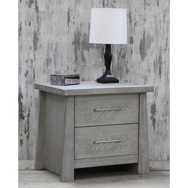 Emery 2 Drawer Nightstand by Loon Peak