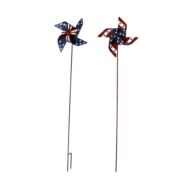 2 Piece Large American Glory Garden Stake Set by Attraction Design Home