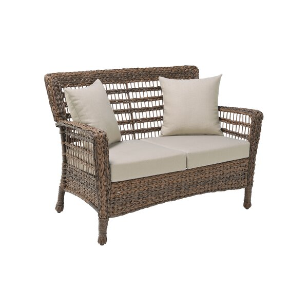 Norbert Modern Loveseat with Cushions by Bay Isle Home