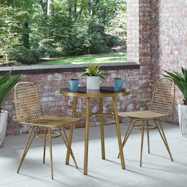 Malena 3 Piece Bistro Set By Everly Quinn by Everly Quinn Wonderful