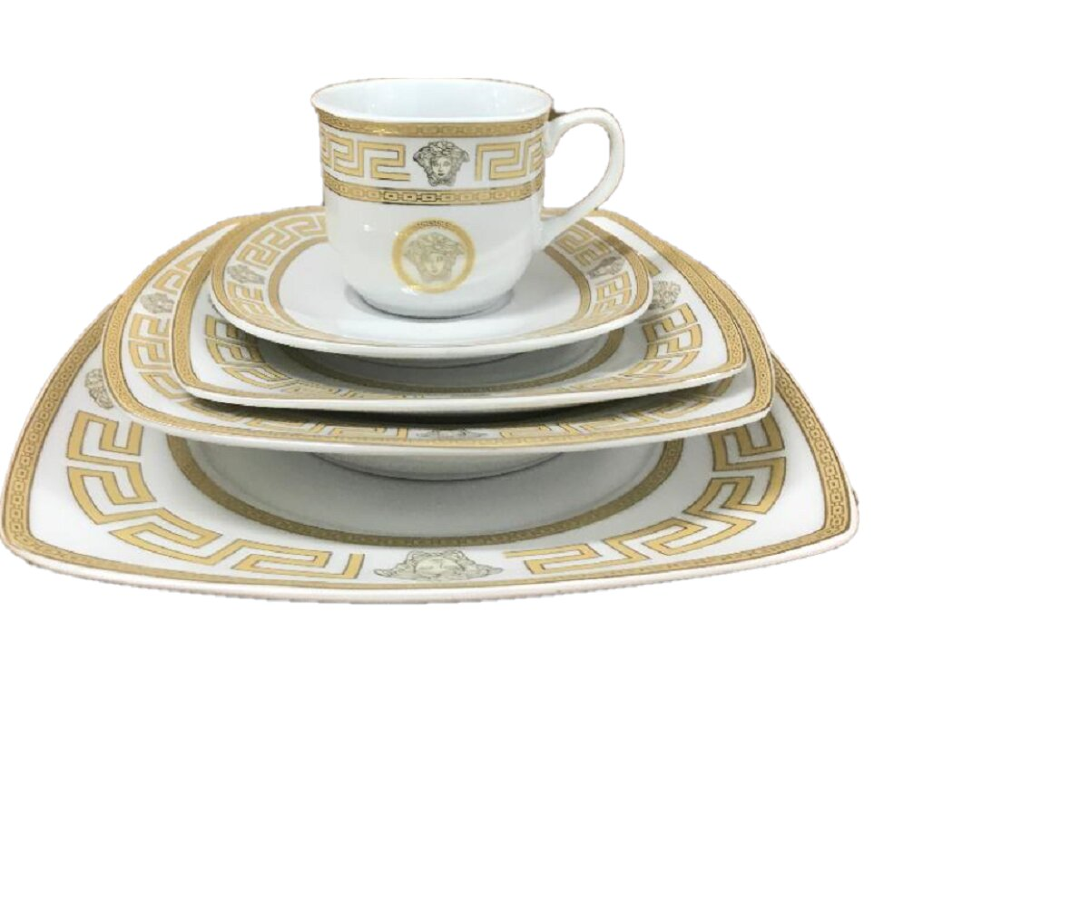 Bloomsbury Market Emelina 47 Piece Dinnerware Set Service For 8 Reviews Wayfair