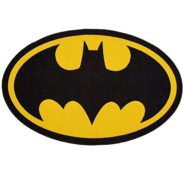 DC Comics Batman Soft Black/Yellow Area Rug by Delta Children
