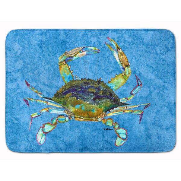 Crab Rectangle Microfiber Non-Slip Bath Rug