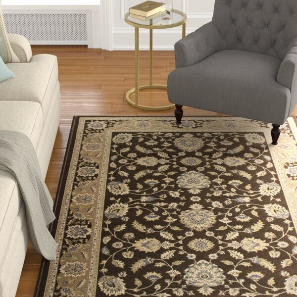 Lang Brown Area Rug by Astoria Grand