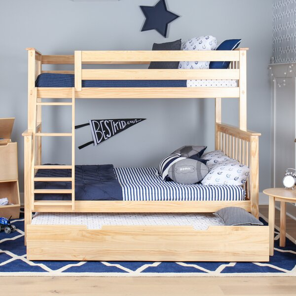 Juliann Bunk Bed With Trundle By Harriet Bee by Harriet Bee Modern