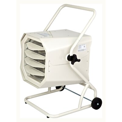 10,000 Watt Cart-Mounted Electric Forced Air Heater with Cart and Adjustable Thermostat Dr. Infrared Heater