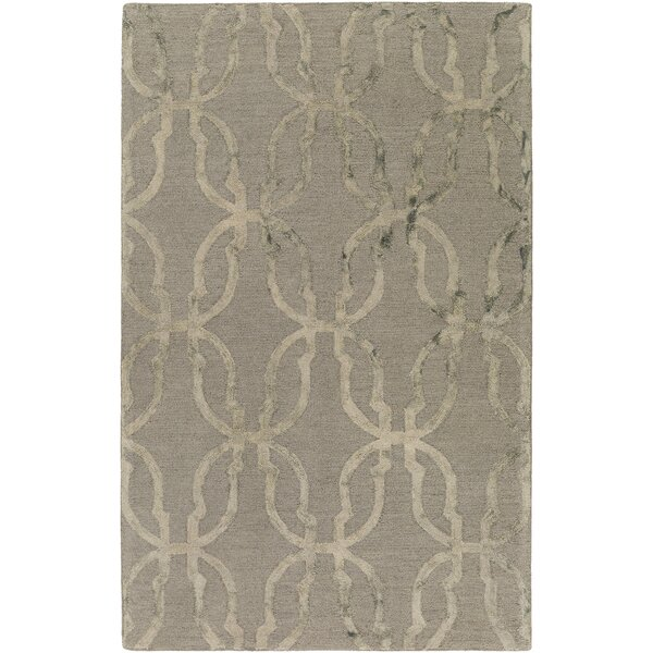 Glennon Hand-Tufted Slate Gray/Beige Area Rug by Ivy Bronx