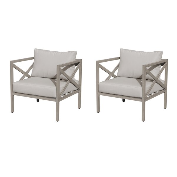 Carlisle Patio Chair with Cushions (Set of 2) by TK Classics