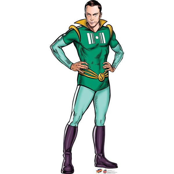 Sheldon Super Hero - Big bang Theory Cardboard Stand-Up by Advanced Graphics