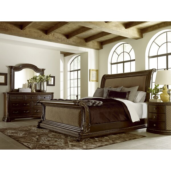 Hepburn Upholstered Sleigh Bed by Astoria Grand
