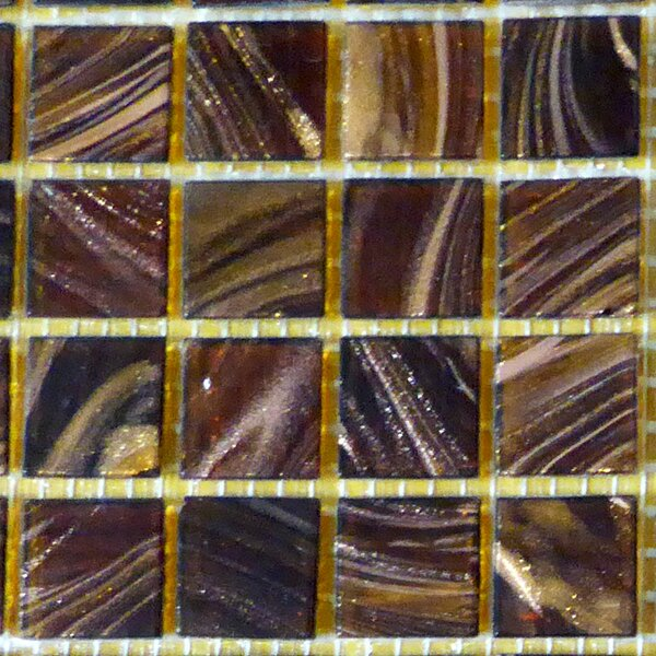 0.75 x 0.75 Glass Mosaic Tile in Brown/Beige by Bellaterra Home
